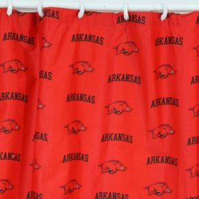 College Covers Arkansas Razorbacks Printed Shower Curtain Cover