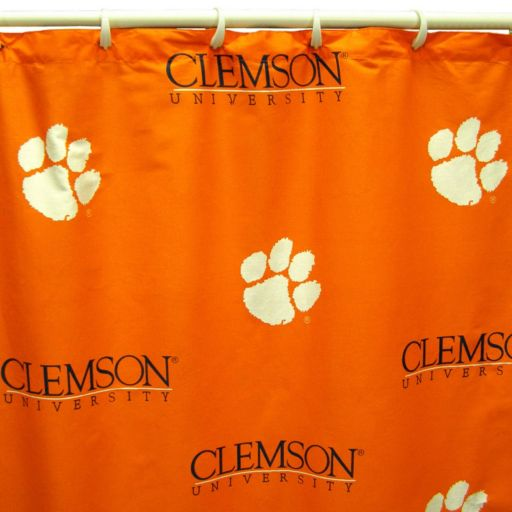 College Covers Clemson Tigers Printed Shower Curtain Cover