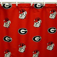 College Covers Georgia Bulldogs Printed Shower Curtain Cover