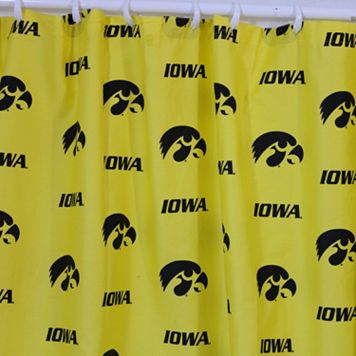 College Covers Iowa Hawkeyes Printed Shower Curtain Cover