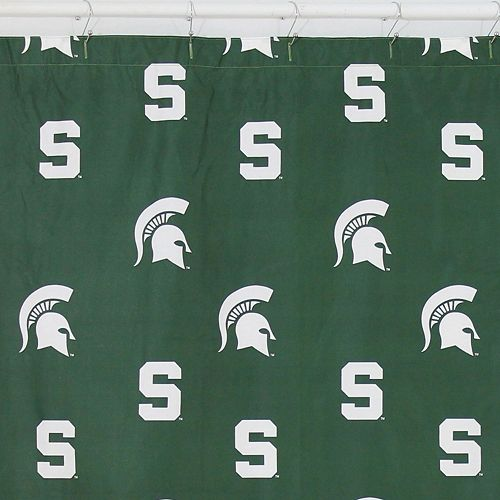 College Covers Michigan State Spartans Printed Shower Curtain Cover