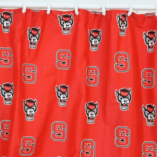 College Covers North Carolina State Wolfpack Printed Shower Curtain Cover