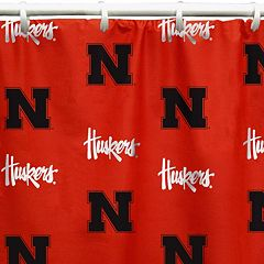 College Covers Nebraska Cornhuskers Printed Shower Curtain Cover