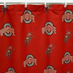 College Covers Ohio State Buckeyes Printed Shower Curtain Cover