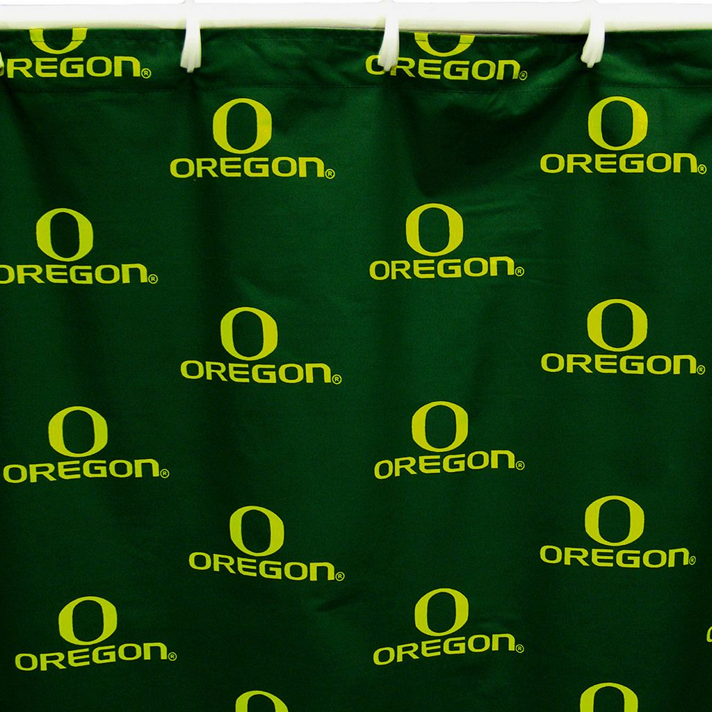 College Covers Oregon Ducks Printed Shower Curtain Cover