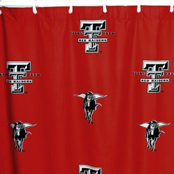 College Covers Texas Tech Red Raiders Printed Shower Curtain Cover