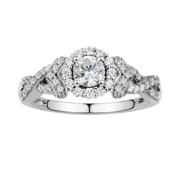 kohls wedding rings simply vera vera wang halo engagement ring in 14k 5339