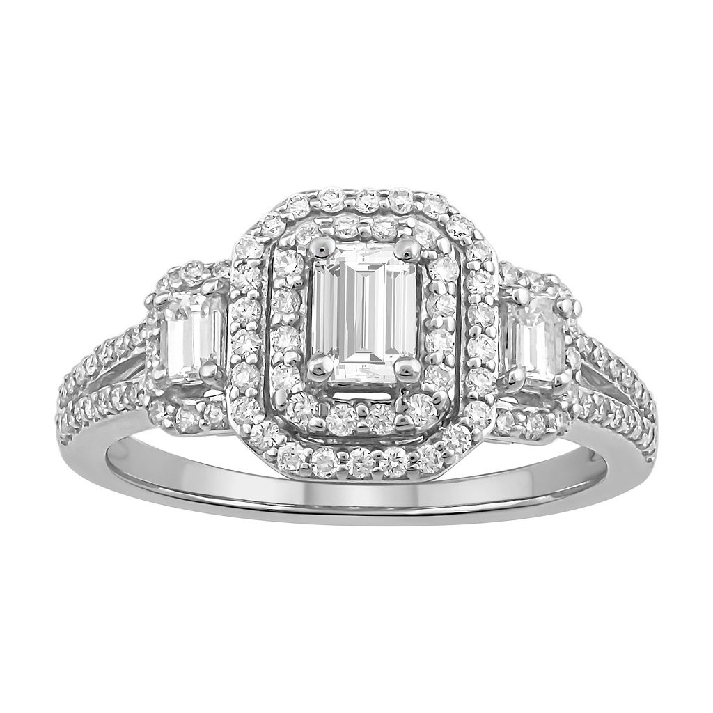 Simply Vera Vera Wang Diamond Halo Engagement Ring in 14k White Gold (1 ct. T.W.)