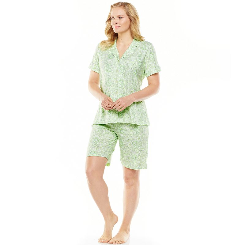 Chaps Sanibel Island Notch Collar Pajama Set - Women's Plus