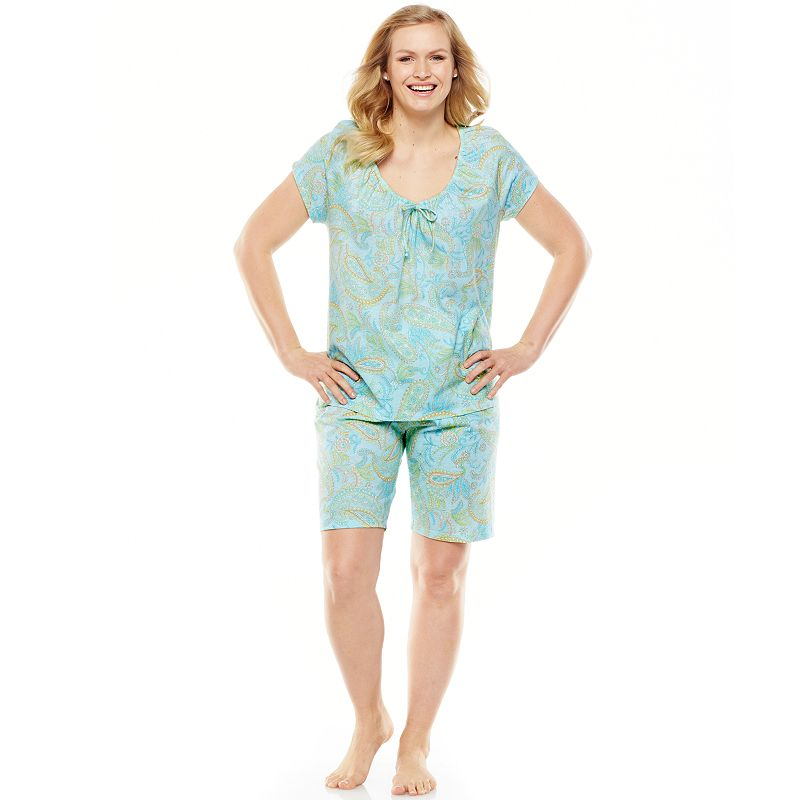 Chaps Pajamas: Sanibel Island Paisley Pajama Set - Women's Plus