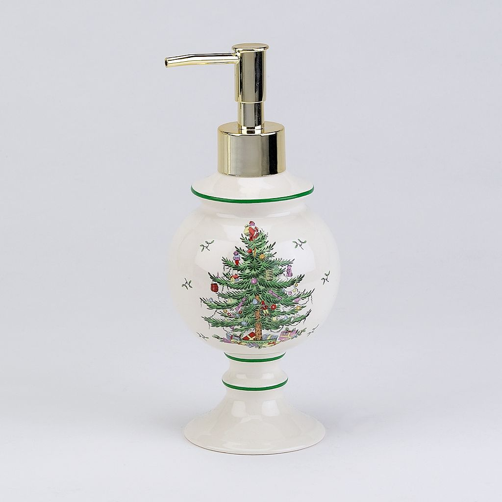 Spode Christmas Tree Lotion Pump