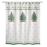 Spode Christmas Tree Fabric Shower Curtain