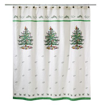 Spode Christmas Tree Fabric Shower Curtain