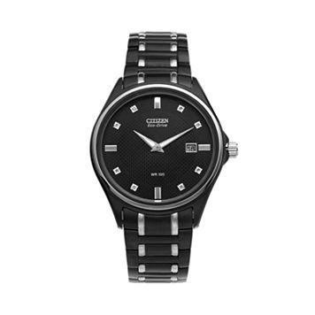 Citizen Eco-Drive Men's Diamond Stainless Steel Watch - AU1054-54G