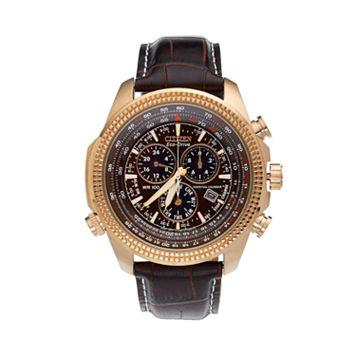 Citizen Men's Eco-Drive Perpetual Calendar Leather Chronograph Watch - BL5403-03X