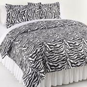 Elite Home Products Zebra 3 pc Duvet Cover Set - King