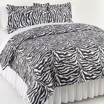 Elite Home Products Zebra 3-pc. Duvet Cover Set - King
