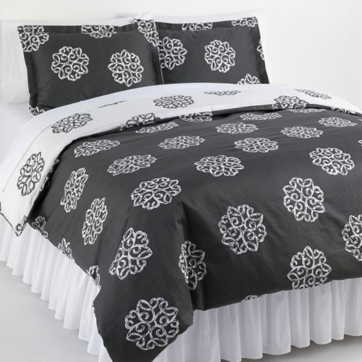 Elite Home Products Milena 2-pc. Reversible Duvet Cover Set - Twin