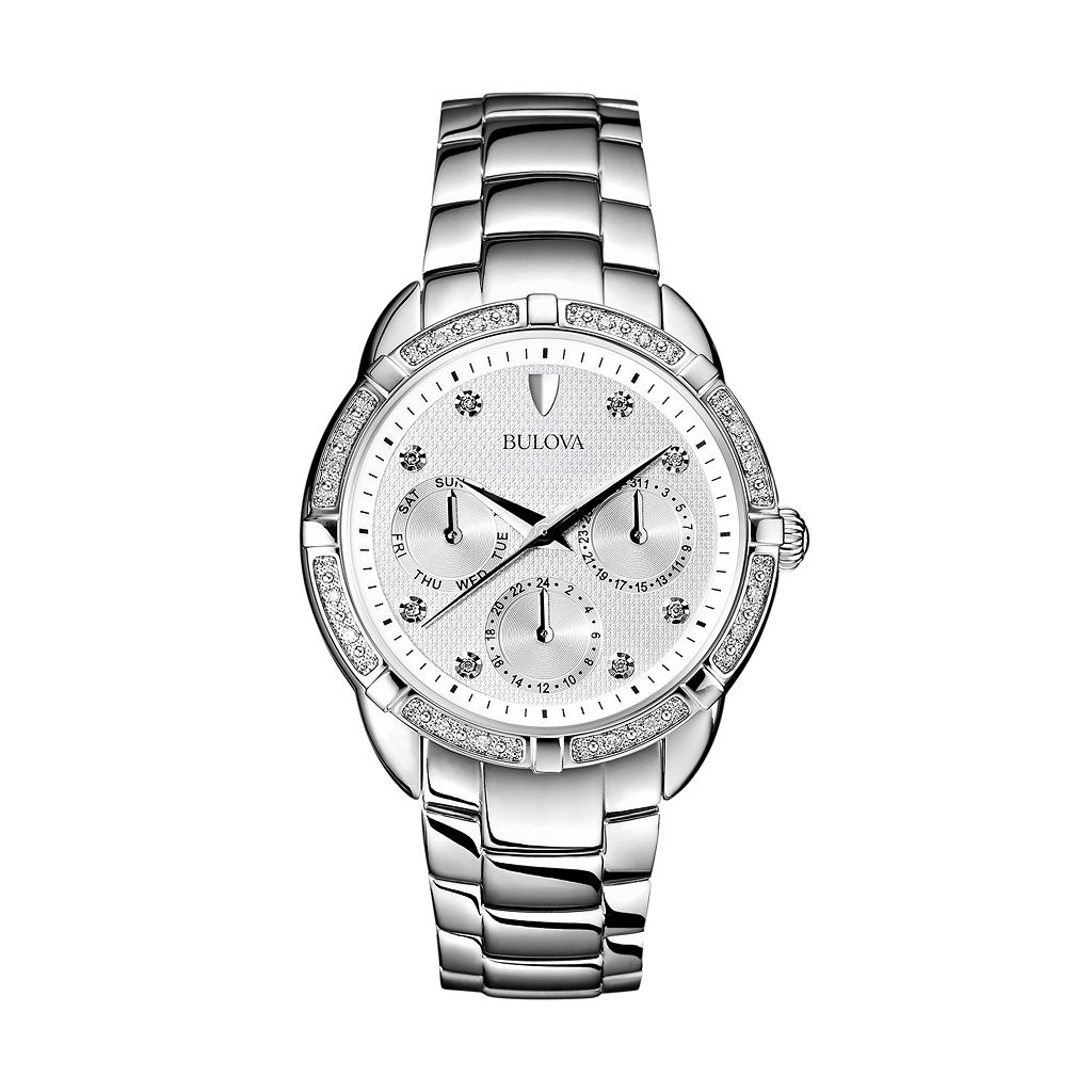 Bulova Women's Maribor Diamond Stainless Steel Watch - 96R195