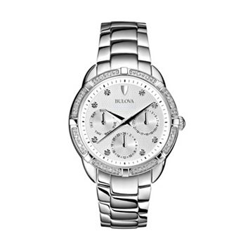 Bulova Women's Maribor Diamond Stainless Steel Watch - 96R195