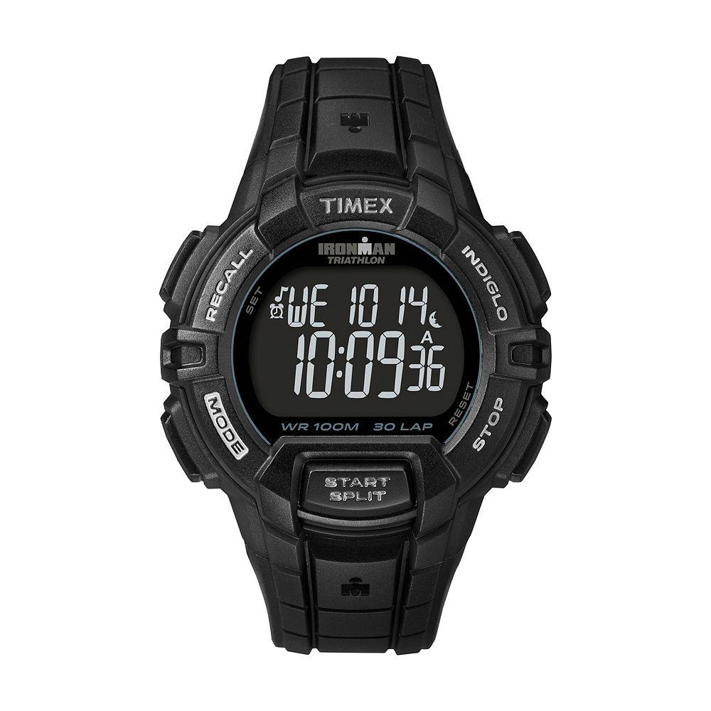 Timex® Men's Ironman Rugged Sport 30-Lap Digital Chronograph Watch