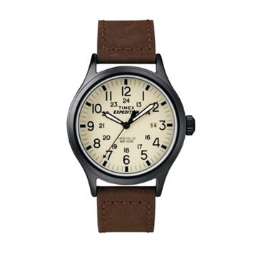 Timex Men's Expedition Scout Leather Watch - T49963KZ