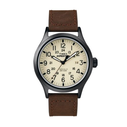 Timex Watch - Men's Expedition Scout Leather - T49963KZ
