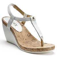 Chaps Raevyn Thong Wedge Sandals - Women