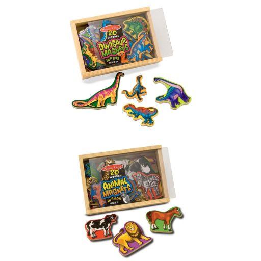 Melissa and Doug Animal and Dinosaur Magnets Bundle