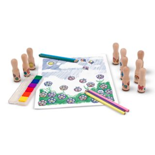Melissa and Doug Deluxe Happy Handle Stamp Set