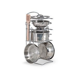 Melissa and Doug Let's Play House Stainless Steel Pots and Pans Play Set