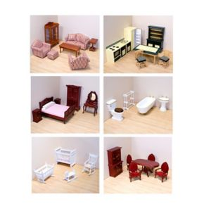 Melissa and Doug Victorian Dollhouse Furniture Bundle