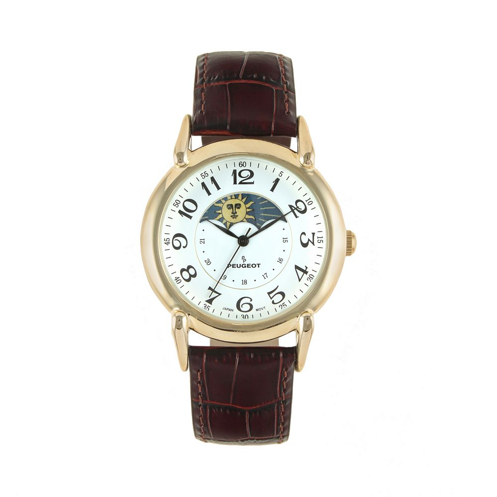 women's leather moon phase watch - 3032