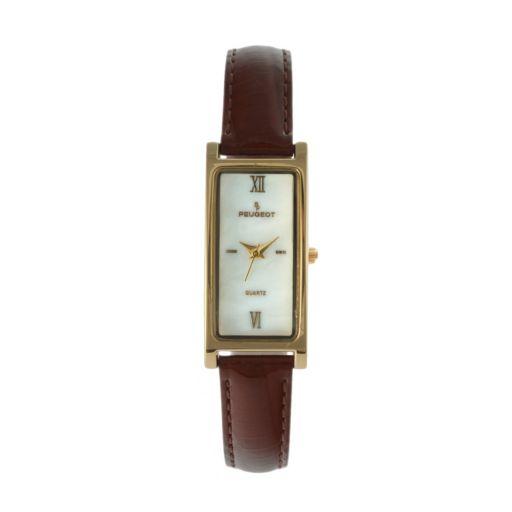 Peugeot Women's Leather Watch - 3017BR