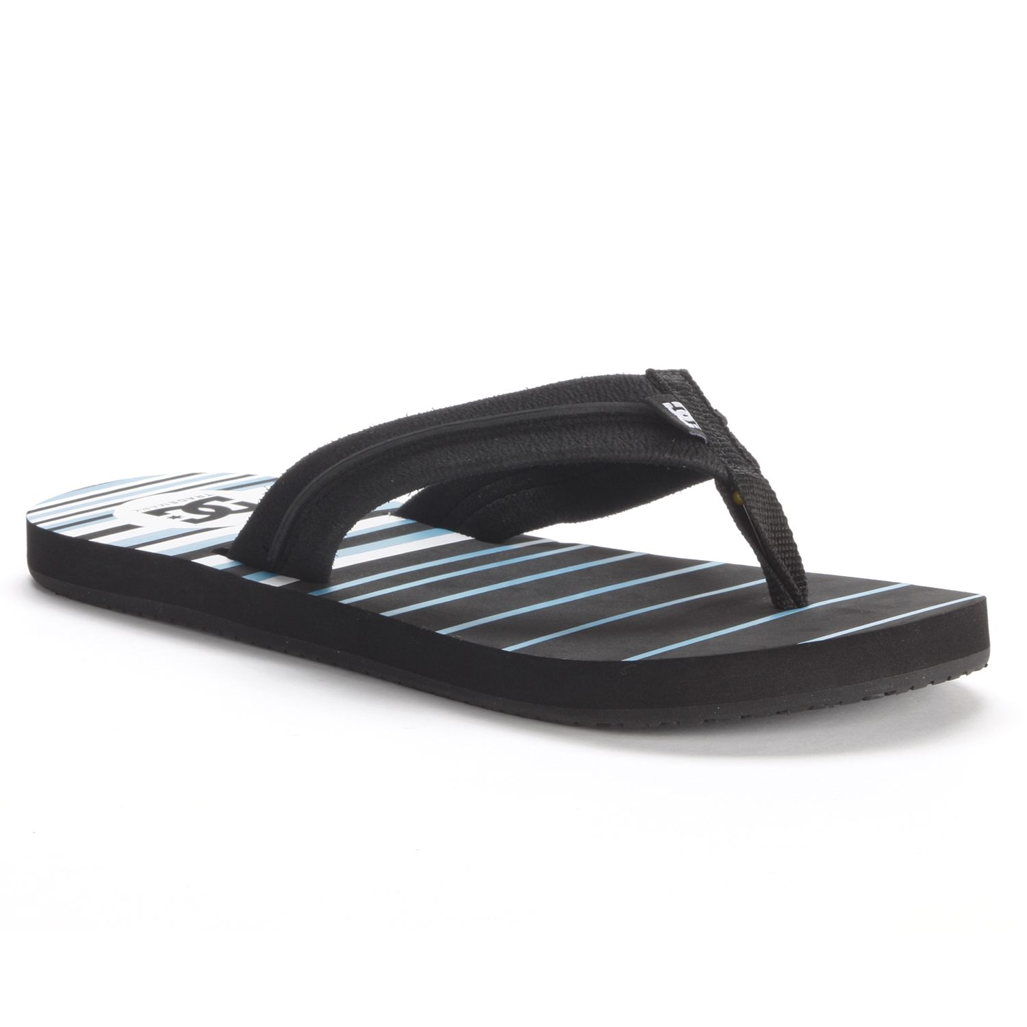 DC Shoe Co Black Kontext Graffik Thong Sandals - Men