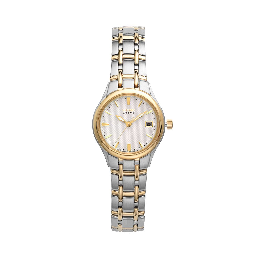 Citizen Eco-Drive Women's Silhouette Two Tone Stainless Steel Watch - EW1264-50A