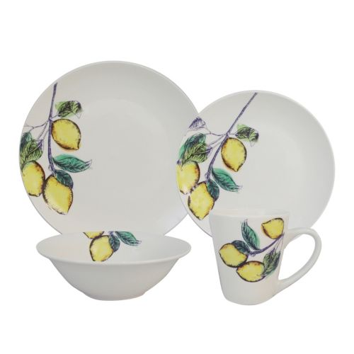 SONOMA life + style® Coupe Yellow 16-pc. Dinnerware Set