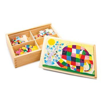 Elmer Elephant Wood Puzzle Set by Kids Preferred