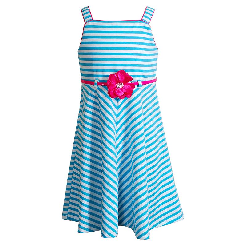 Youngland Striped Belted Dress - Girls 4-6x