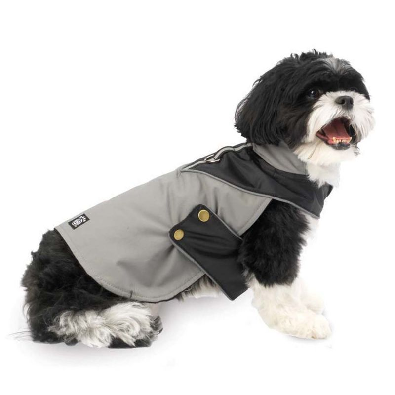 PetRageous Designs Tacoma Waterproof Dog Coat - Medium (Grey)