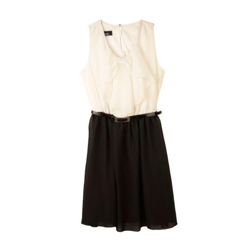 IZ Amy Byer Bow Ruffle Dress - Girls 7-16