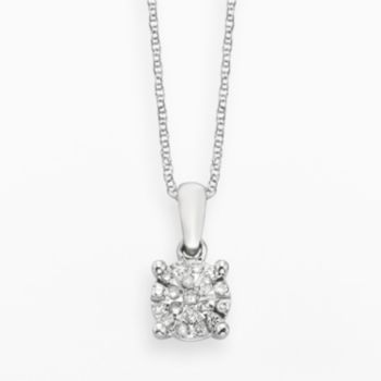 Diamond Brilliance Sterling Silver 1/8-ct. T.W. Diamond Pendant