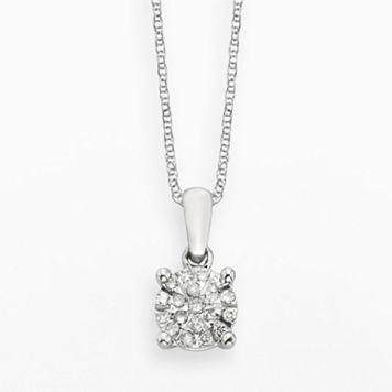 Diamond Brilliance Sterling Silver 1/8-ct. T.W. Diamond Pendant