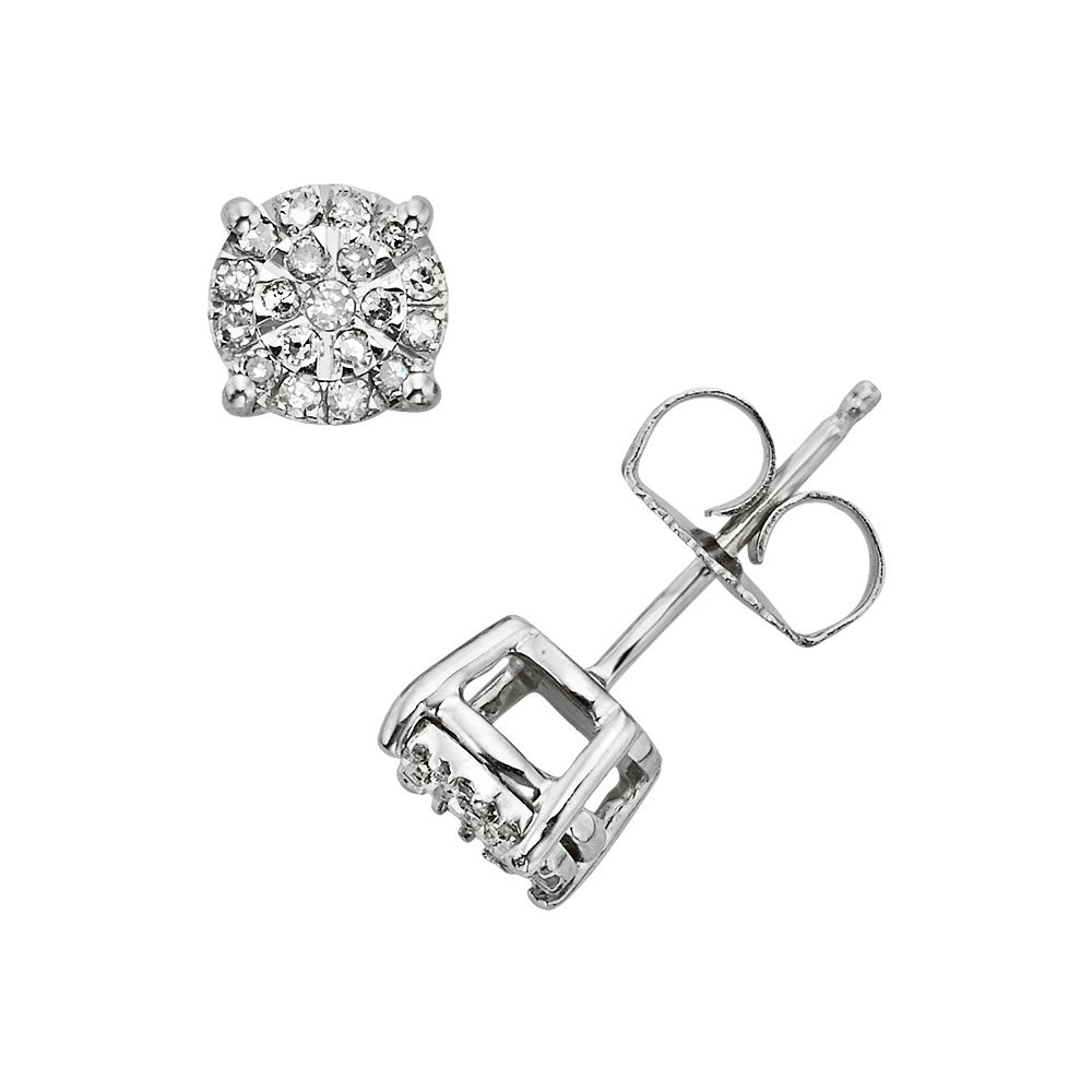 Diamond Brilliance Sterling Silver 1 4 Ct T W Stud