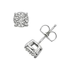 Diamond Brilliance Sterling Silver 1/4 ctT.W. Diamond Stud Earrings