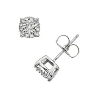 Diamond Brilliance Sterling Silver 1/4-ct. T.W. Diamond Stud Earrings