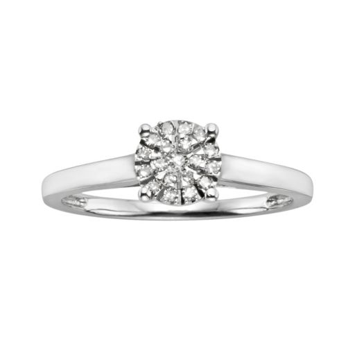 Diamond Brilliance Sterling Silver 1/8-ct. T.W. Diamond Ring
