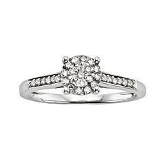 Diamond Brilliance Sterling Silver 1/5 ctT.W. Diamond Ring