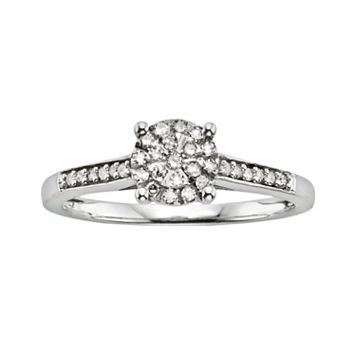 Diamond Brilliance Sterling Silver 1/5-ct. T.W. Diamond Ring