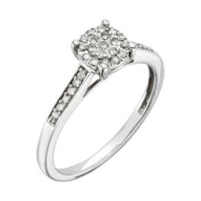 Diamond Brilliance Sterling Silver 1/5-ct. T.W. Diamond Ring